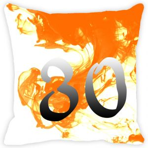 Buy Fabulloso Leaf Designs Numeric Thirty Cushion Cover - 8x8 Inches online