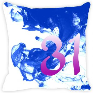 Buy Fabulloso Leaf Designs Numeric Thirty One Cushion Cover - 18x18 Inches online
