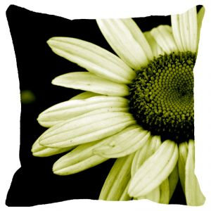 Buy Fabulloso Leaf Designs Lemon Daisy Cushion Cover - 12x12 Inches online