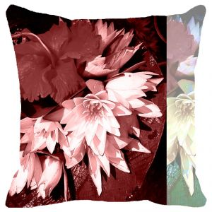Buy Fabulloso Leaf Designs Mauve Tones Cushion Cover - 8x8 Inches online
