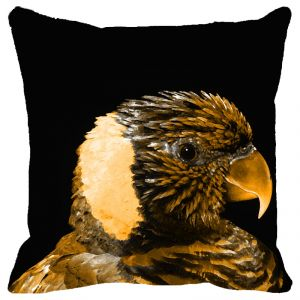Buy Fabulloso Leaf Designs Sepia Parrot Cushion Cover - 18x18 Inches online