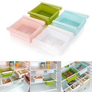 Buy Multi Purpose Kitchen, Office Table Space Organizer Refrigerator Storage Rack (pack Of 4) online
