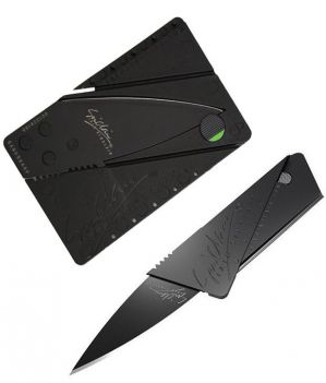 Buy Card Sharp Credit Card Sized Foldable Stainless Steel Knife For Your Wallet - Pair Of 2 online