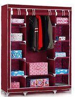 Buy Maroon Foldable Wardrobe Almirah Cupboard online