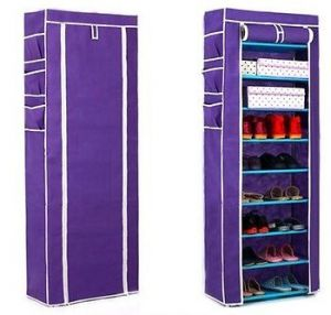 Buy 8 Layers Shoe Rack Metal Grid Shelfs High Quality online