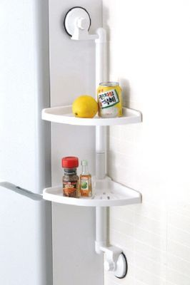 Buy Portable Suction 2-layer Corner Shelf For Bath And Kitchen online