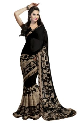 Buy STYLOCE GEORGETTE SAREE .STY-9055 Ideal for Diwali Gifts Online online