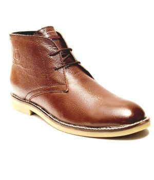 Buy Guava Brown Leather Boots online