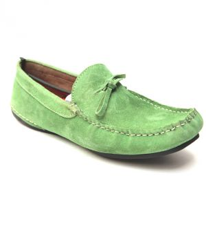 Buy Guava Spring Green Leather Loafer online