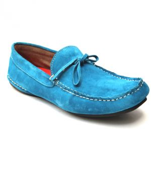 Buy Guava Tropical Blue Leather Loafer online