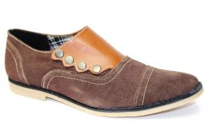 Buy Guava Suede Leather Stylo Casual Shoe Brown online