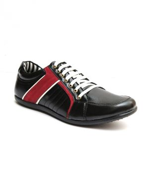 Buy Guava Notable Black Leather Sneaker online
