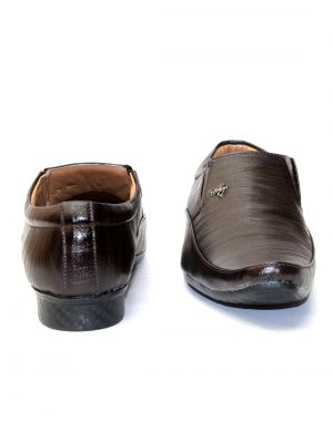 Buy Guava Brown Synthetic Leather Textured Men