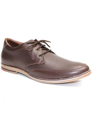 Buy Guava Brown Leather Men