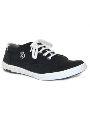 Buy Guava Black Synthetic Suede Leather Men