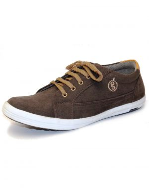 Buy Guava Brown Synthetic Suede Leather Men