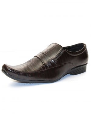 Buy Guava Brown Synthetic Leather Men