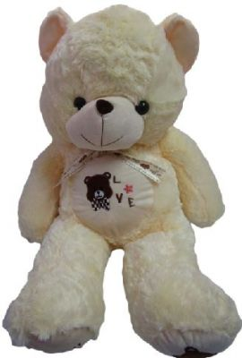 0e2460a80b7cb Buy Teddy Bear Soft Toy 2.5 Feet With Ribbon Cream Color L23 W28 H75 Cms  online