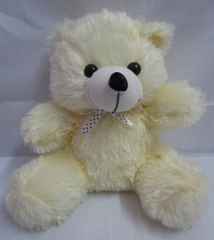 b19275df6b9cb Buy Soft Toy Teddy Bear Color Off White With Ribbon In Neck L11 W13 H26 Cms