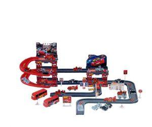 Buy Disney Pixar Cars 2parking Garage Racing Track 55 Peaces With 6