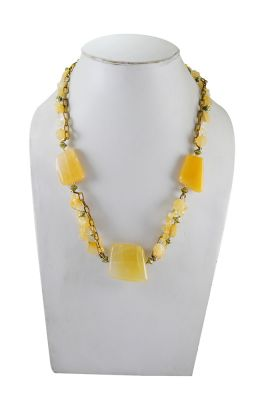Buy Adbeni Yellow Quartz Handcraft Necklace-adb-900008 online