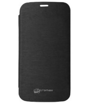 Buy Gci Flip Cover For Micromax A77 (black) online