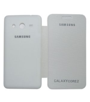 Buy Gci Flip Cover For Samsung Galaxy Core2 (white) online