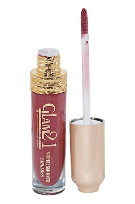 Buy Glam 21 Super Smooth Lipgloss Silky Effect With Liner & Rubber Band -hrhh-b4-(code-gm-5355-b4-lpgl-lt28-m-eylnr-fl) online