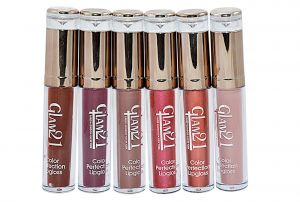 Buy Glam 21 Color Perfection Lip Gloss With Liner & Rubber Band -rhp-d6-(code-gm-e351-6psc-d-lpgl-lt28-m-eylnr-fl) online