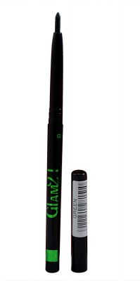 Buy Glam 21 Green Longlasting Kajal With Liner & Rubber Band online
