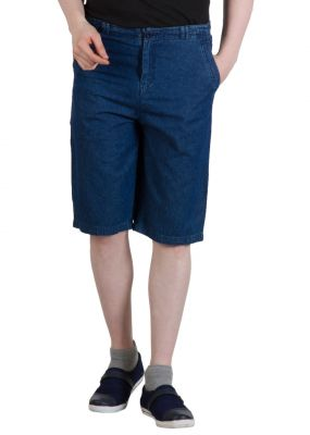 Buy Hypernation Denim Blue Color Shorts For Men online