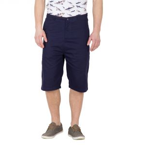Buy Hypernation Blue Twill Color Casual Shorts For Men online