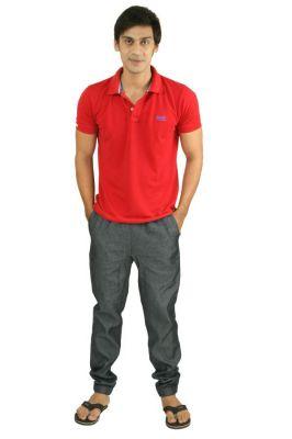 Buy Hypernation Denim Color Casual Pants For Men online