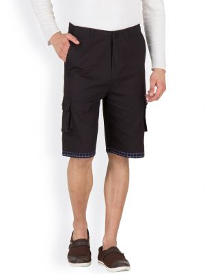 Buy Hypernation Black Three Fourth Cotton Shorts online
