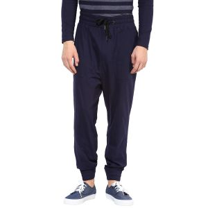Buy Hypernation Blue Double Drop Crotch Cotton Pant online