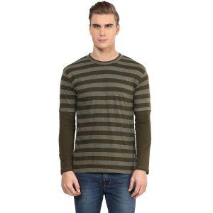 Buy Hypernation Striped Men Round Neck T-shirt_hypm0601 online