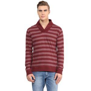 Buy Hypernation Striped Men Shawl Collar T-shirt_hypm0604 online