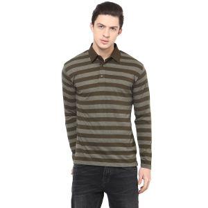 Buy Hypernation Striped Men Polo Neck T-shirt Hypm0626 online