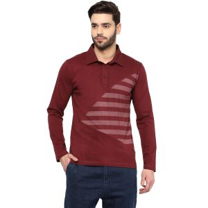 Buy Hypernation Striped Men Polo Neck T-shirt_hypm0683 online