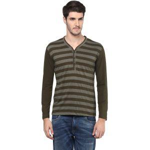 Buy Hypernation Striped Men Henley T-shirt online