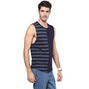 Buy Hypernation Striped Men Round Neck Muscle T-shirt online