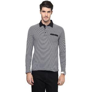 Buy Hypernation Striped Men Polo Neck T-shirt online