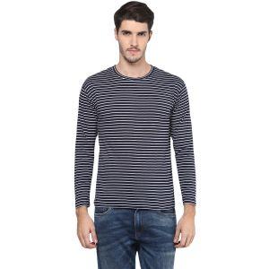 Buy Hypernation Striped Men Round Neck T-shirt online
