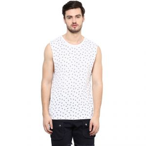 Buy Hypernation Printed Men's Round Neck Muscle T-Shirt online