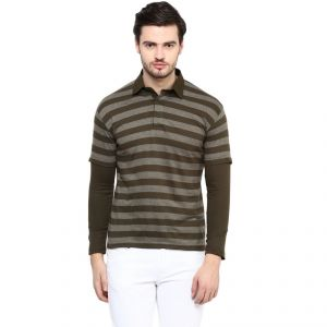 Buy Hypernation Striped Men's Polo Neck T-shirt-hypm0829 online
