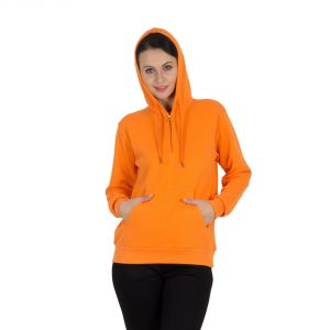 Buy Hypernation Orange Color Full Sleeves Hooded Sweat Shirt online