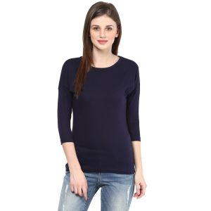Buy Hypernation Solid Women Round Neck T-shirt_hypw0729 online