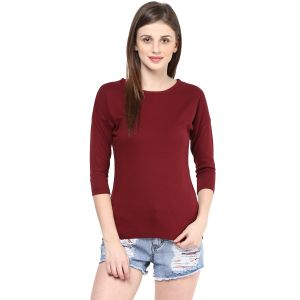 Buy Hypernation Solid Women Round Neck T-shirt_hypw0733 online
