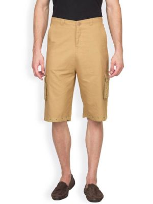 Buy Hypernation Khaki Color Casual Three Fourth For Men online