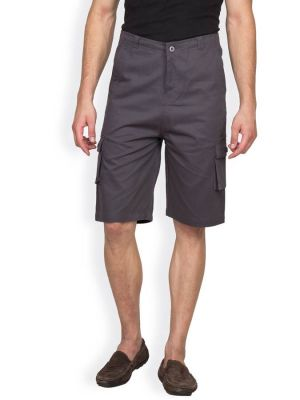 Buy Hypernation Dark Grey Color Casual Three Fourth For Men online